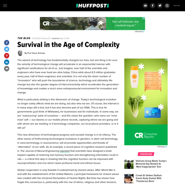 Survival in the Age of Complexity
