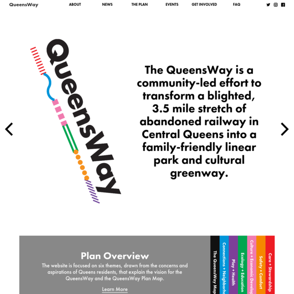 The QueensWay Plan is funded by the State of NY Office of Parks, Recreation & Historic Preservation, The Governor's Regional Economic Development Council, NYC Department of Environmental Protection, Citi Foundation, The Tiffany & Co. Foundation, the Tiger Baron Foundation, the Booth Ferris Foundation, the Scherman Foundation and the Lily Auchincloss Foundation.