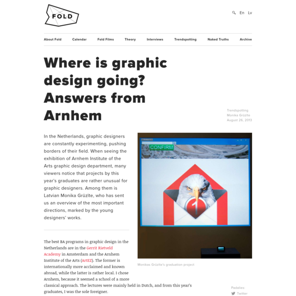 Where is graphic design going? Answers from Arnhem ← FOLD