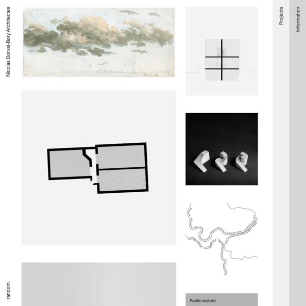 NICOLAS DORVAL-BORY ARCHITECTES is an architecture office based in Paris, FR. - AJAP 2016 - Albums des Jeunes Architectes et Paysagistes