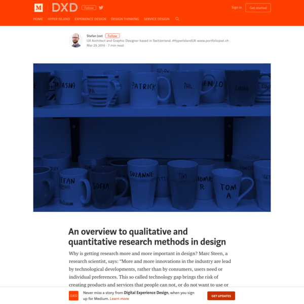 An overview to qualitative and quantitative research methods in design