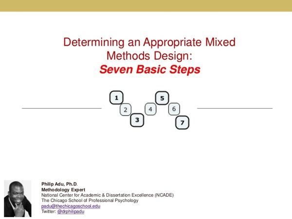 Determining an Appropriate Mixed Methods Design: Seven Basic Steps