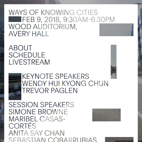 Technology increasingly mediates the way that knowledge, power, and culture interact to create and transform the cities we live in. This one-day conference brings together leading scholars and practitioners from across multiple disciplines to consider the role that technologies have played in changing how urban spaces and social life are structured and understood - both historically and in the present moment.
