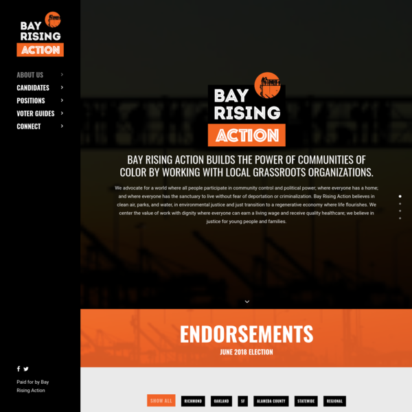 Bay Rising Action builds the power of communities of color by working with grassroots organizations and supporting leaders with strong local roots who share our vision of healthy, thriving communities.
