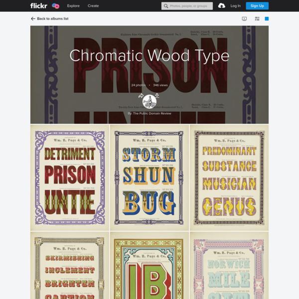 Chromatic Wood Type