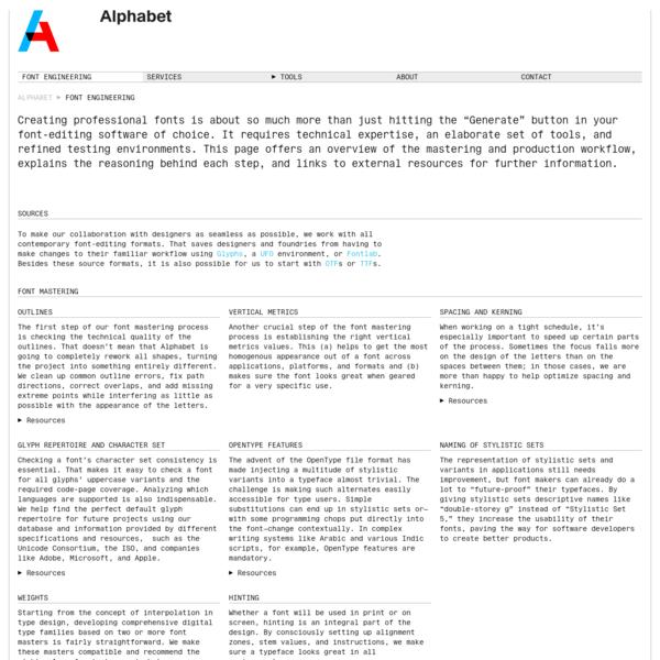 Font Engineering | Alphabet