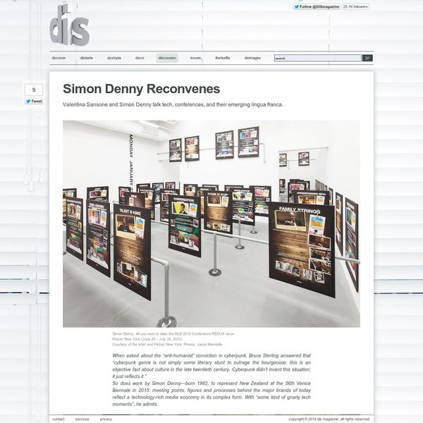 Simon Denny Reconvenes
