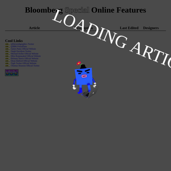 Bloomberg Special Online Features