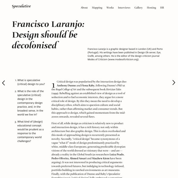 Francisco Laranjo: Design should be decolonised