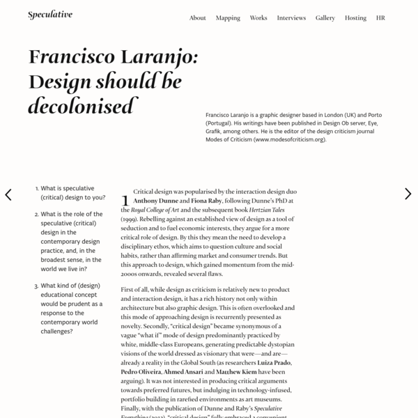 Francisco Laranjo: Design should be decolonised