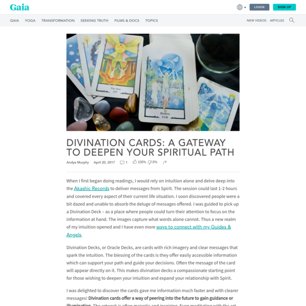 Divination Cards: A Gateway to Deepen your Spiritual Path