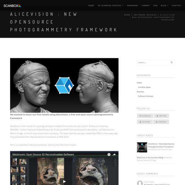 AliceVision : New OpenSource Photogrammetry Framework - Scanbox.xyz