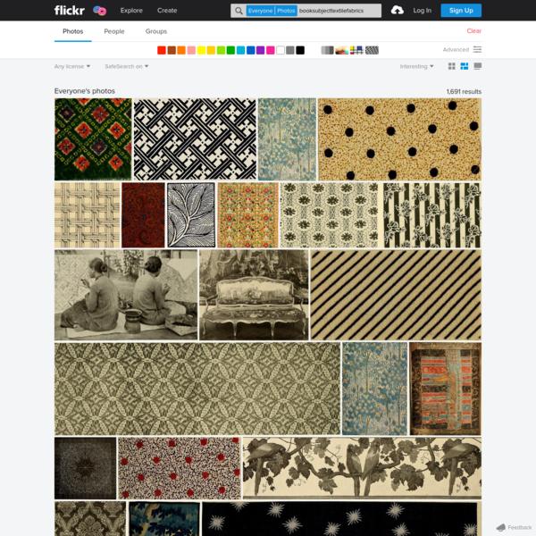 Search: booksubjecttextilefabrics | Flickr