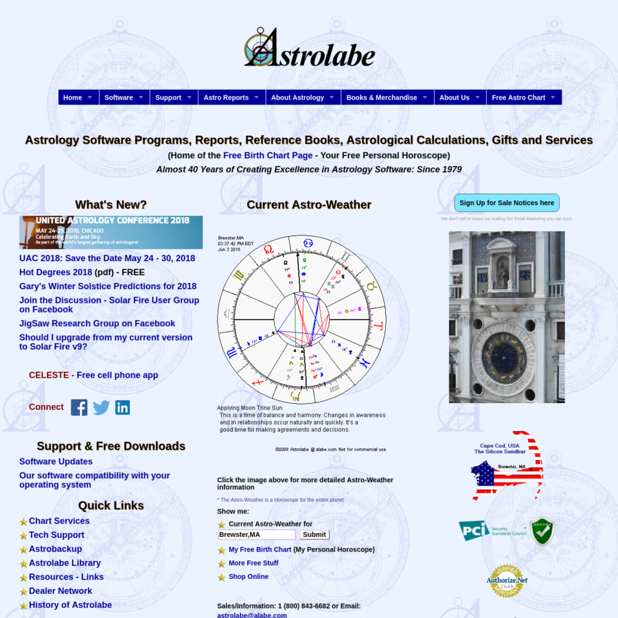 Summary -> Astrolabe Astrology Software Reports Books And Services