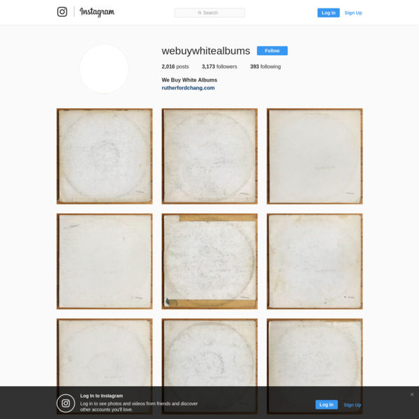 3,176 Followers, 393 Following, 2,016 Posts - See Instagram photos and videos from We Buy White Albums (@webuywhitealbums)