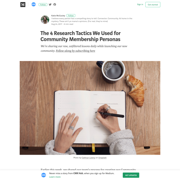 The 4 Research Tactics We Used for Community Membership Personas