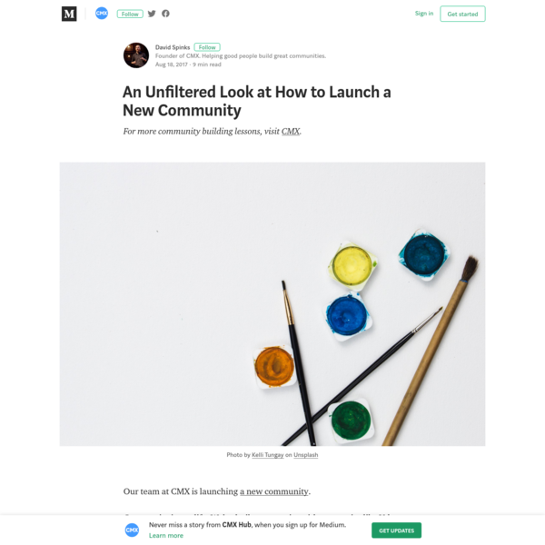 An Unfiltered Look at How to Launch a New Community