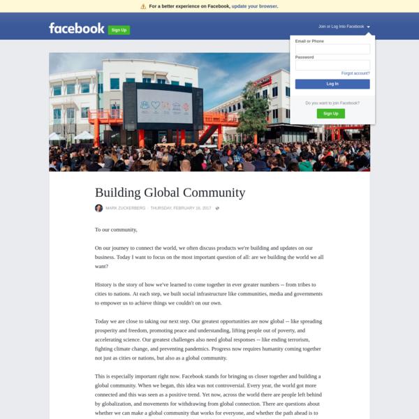 Building Global Community