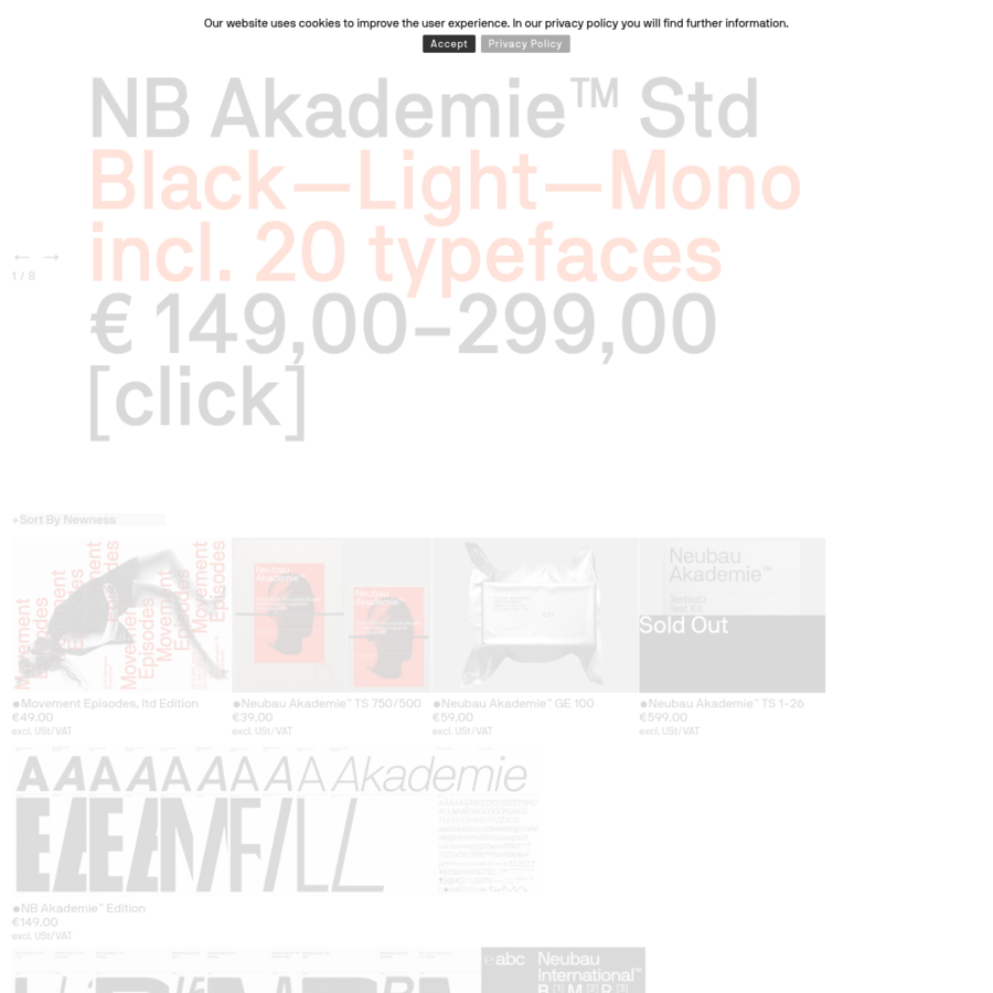 Web Store for Berlin Based Design studio Neubau