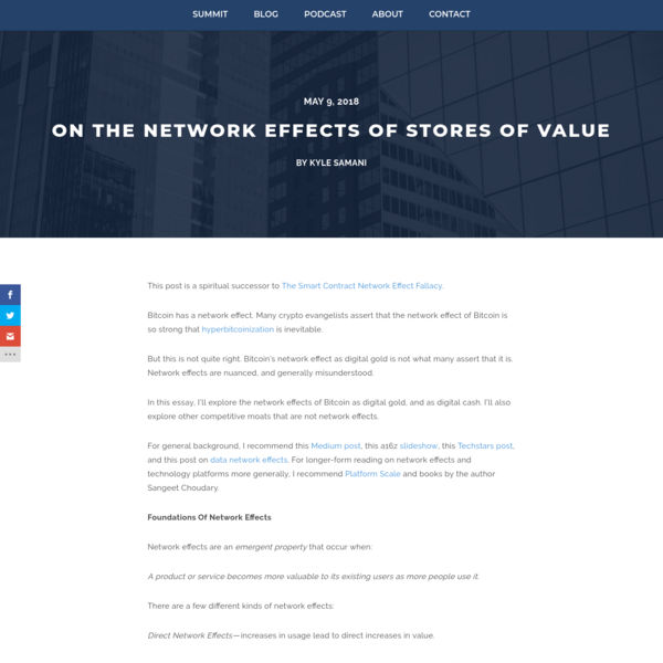 On The Network Effects Of Stores Of Value - Multicoin Capital
