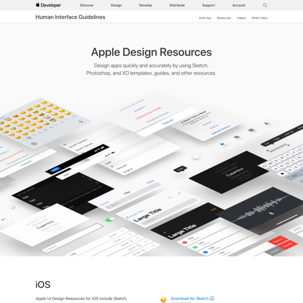 Design apps quickly by using Sketch and Photoshop templates, plug-ins, and preconfigured UI elements.