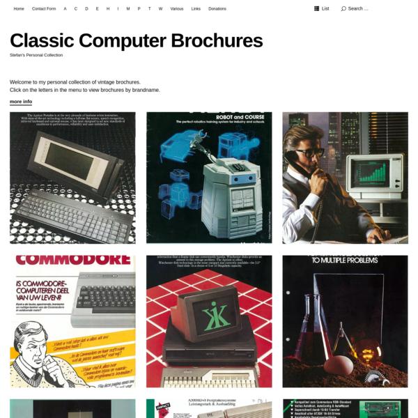 Classic Computer Brochures