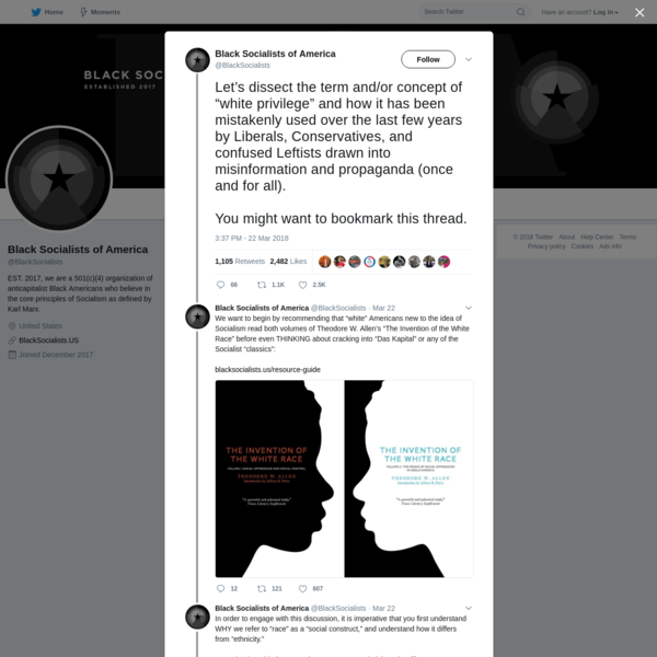 Black Socialists of America on Twitter