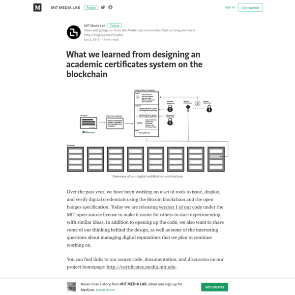 What we learned from designing an academic certificates system on the blockchain