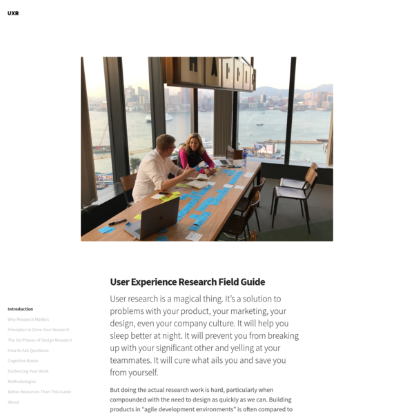 User Experience Research Field Guide
