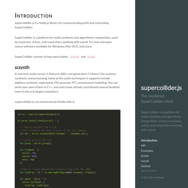 Introduction · supercollider.js