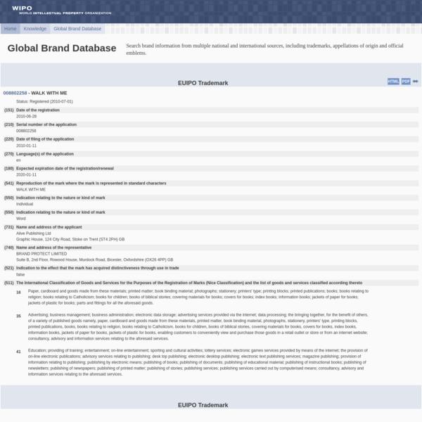 WIPO Global Brand Database