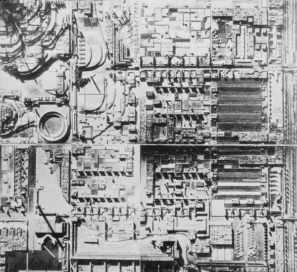 Broadacre City (model detail), Frank Lloyd Wright, 1932
