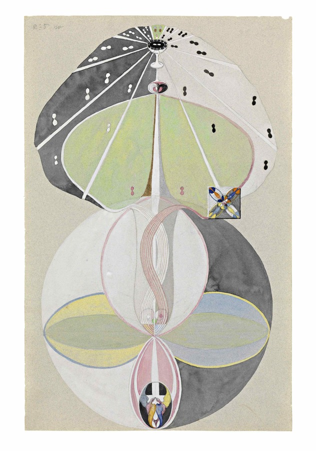 Hilma af Klint, Tree of Knowledge series no 5, 1913-15, watercolor, 46x30cm