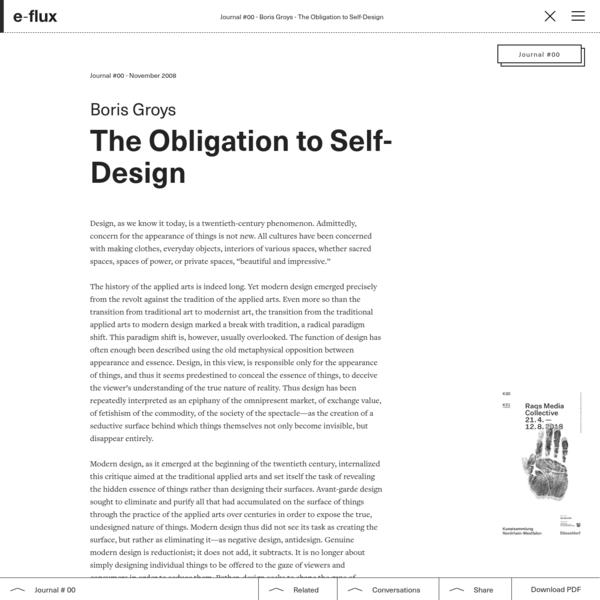 The Obligation to Self-Design