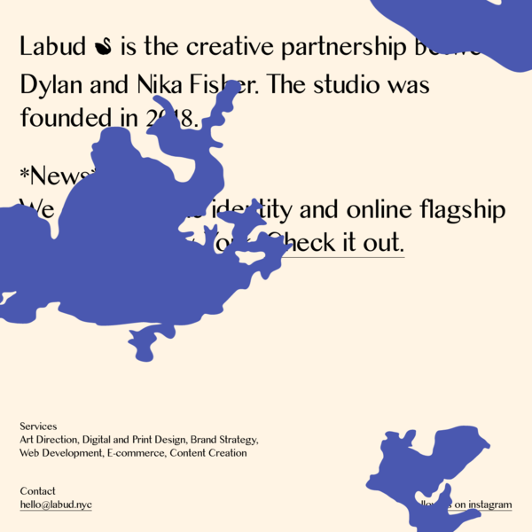 Labud is the creative partnership between Dylan and Nika Fisher.