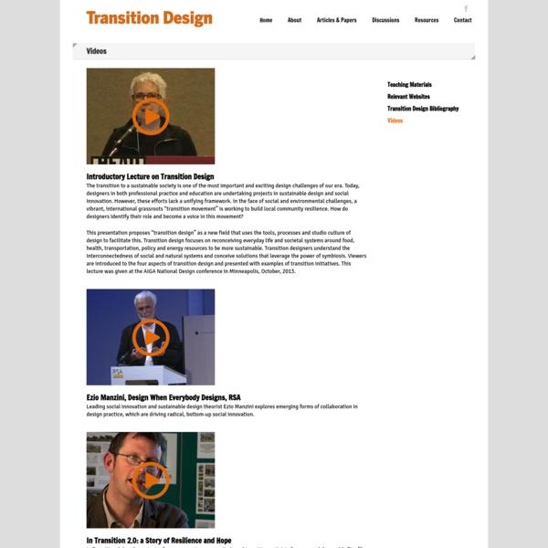 Videos - Transition Design