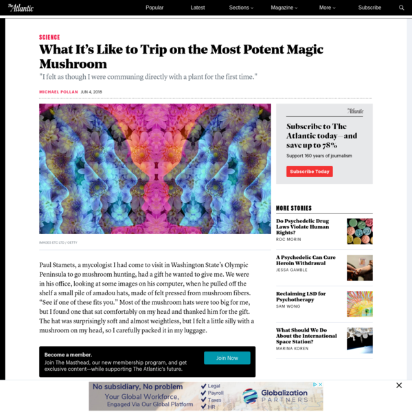 What It's Like to Trip on the Most Potent Magic Mushroom