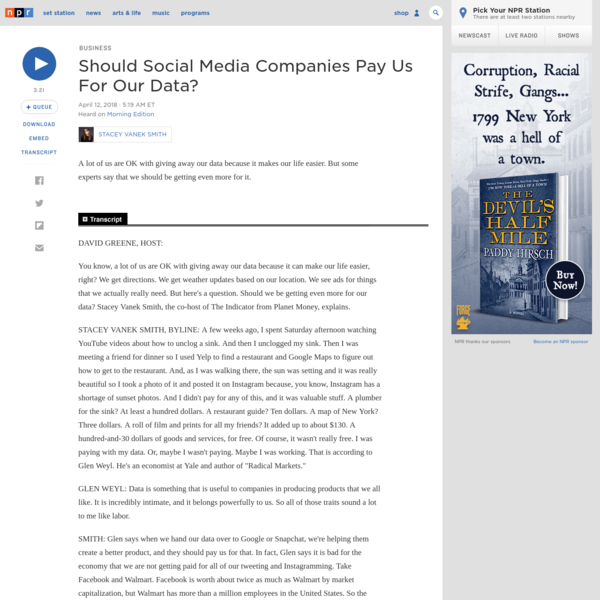 Should Social Media Companies Pay Us For Our Data?