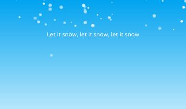 Pure CSS Snow