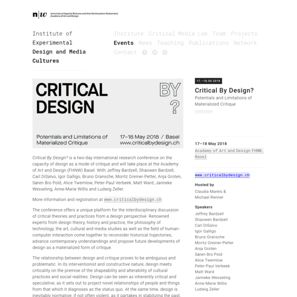 Critical By Design?