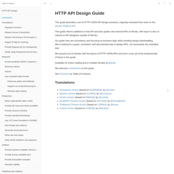 Introduction · HTTP API Design