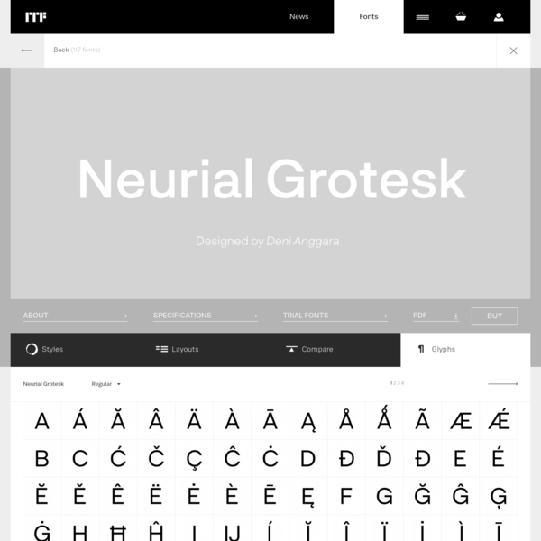 Neurial Grotesk glyphs | Indian Type Foundry