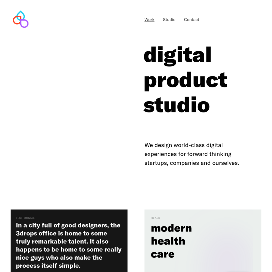 3drops is an independent digital product studio based in Stockholm founded in 2010. We design world class experiences for forward thinking startups, companies and ourselves.