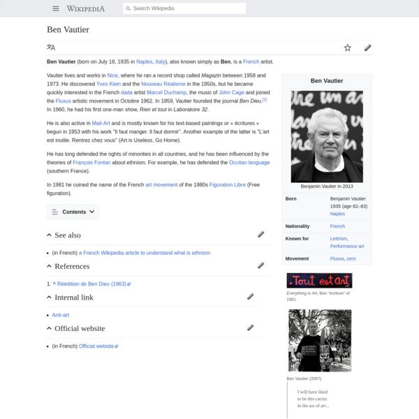 Ben Vautier - Wikipedia