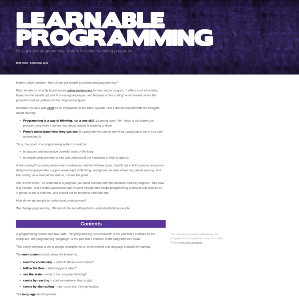 Learnable Programming