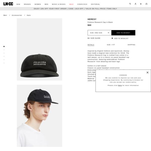 Heresy Folklore Research Cap in Black | LN-CC