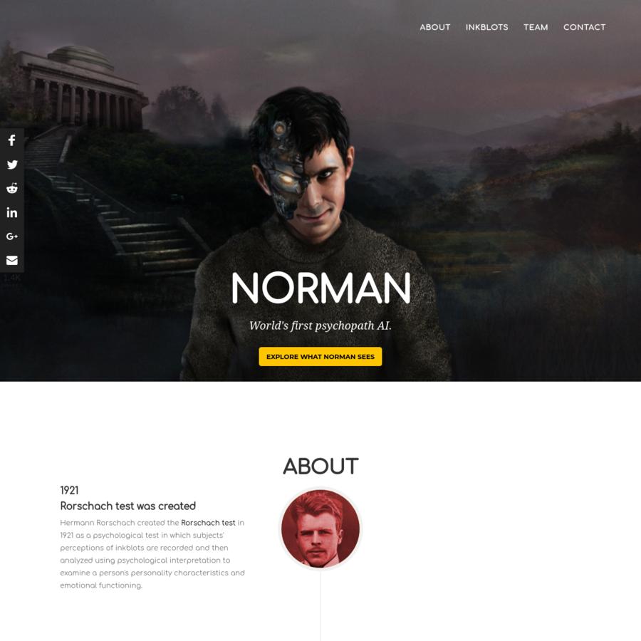 Norman: World's first psychopath AI.