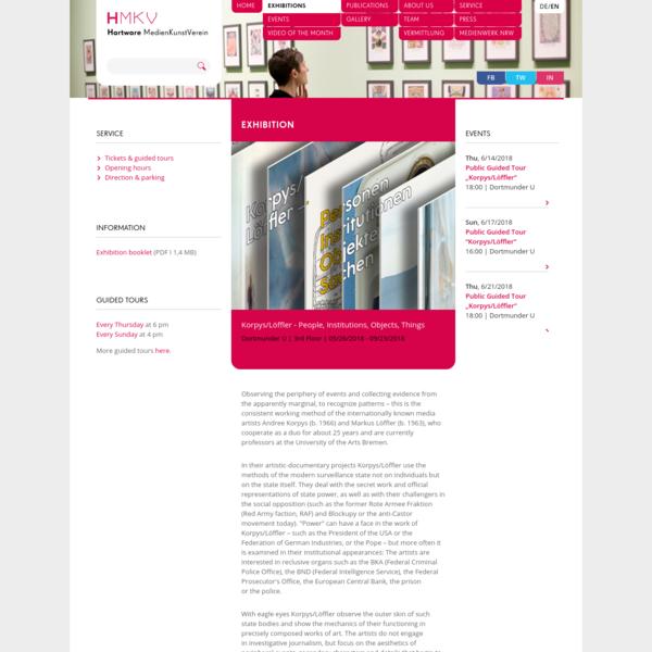 Hartware MedienKunstVerein Dortmund - Ausstellung: Korpys/Löffler ‐ People, Institutions, Objects, Things