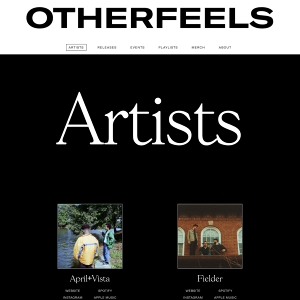 Based in Washington, D.C., OTHERFEELS Records is a label, management group, and event curator supporting musicians who straddle the sacred line between accessible and experimental.