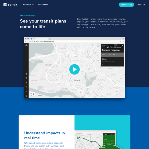 See your transit plans come to life. Immediately understand how proposed changes impact your transit network. With Remix, you can design, evaluate, and refine your plans all in one place.